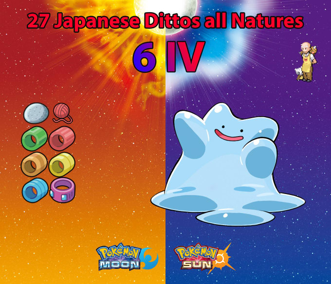 Trade 27 Japanese 6ivs Shiny Ditto All Natures For Pokemon