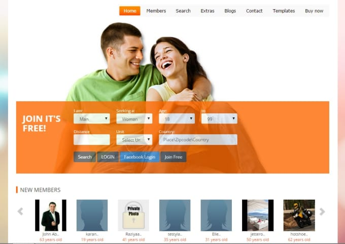 Create a dating site with wordpress