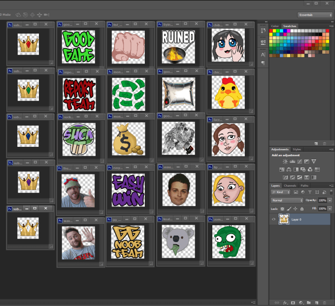 how to make sub emotes for twitch