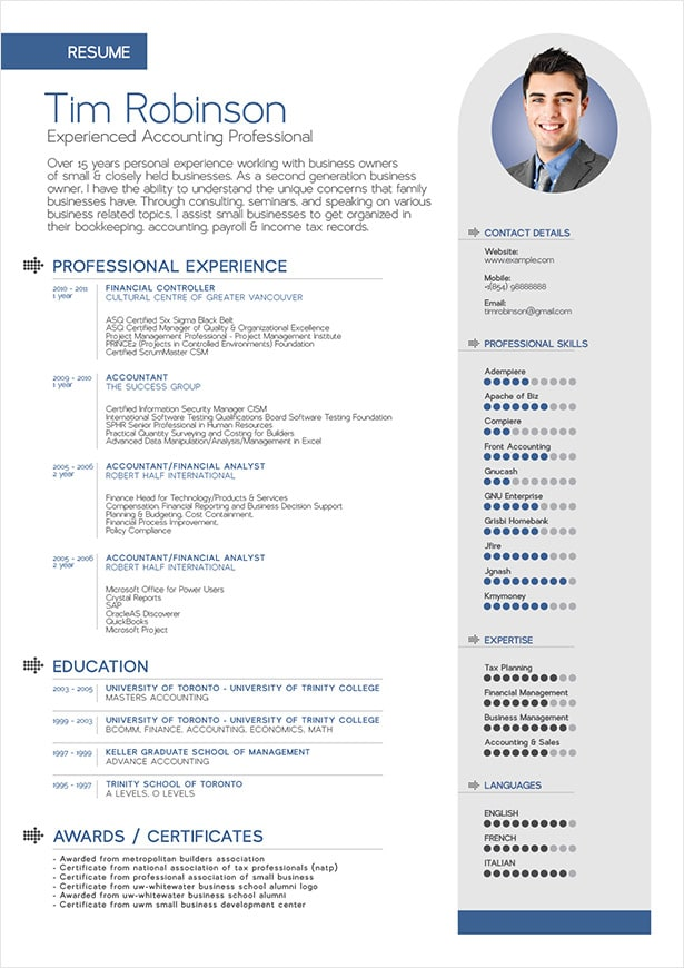 professional dance resume example