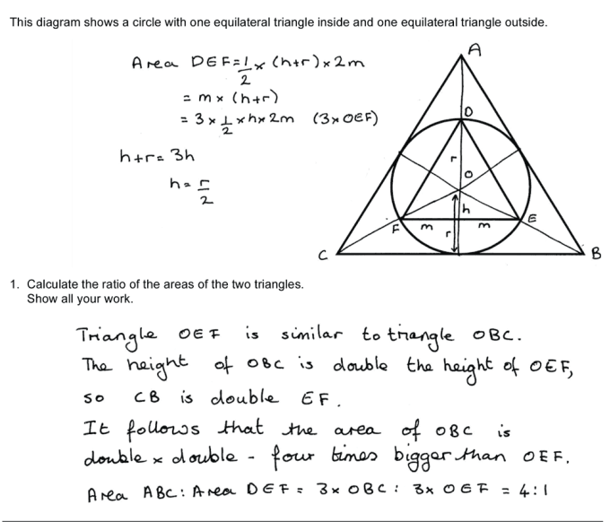 Math problem solutions
