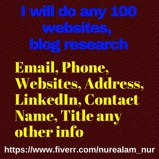 do any website, blog research