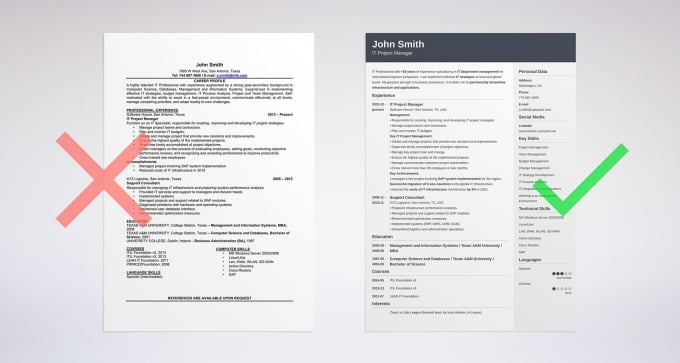 free sample resume
