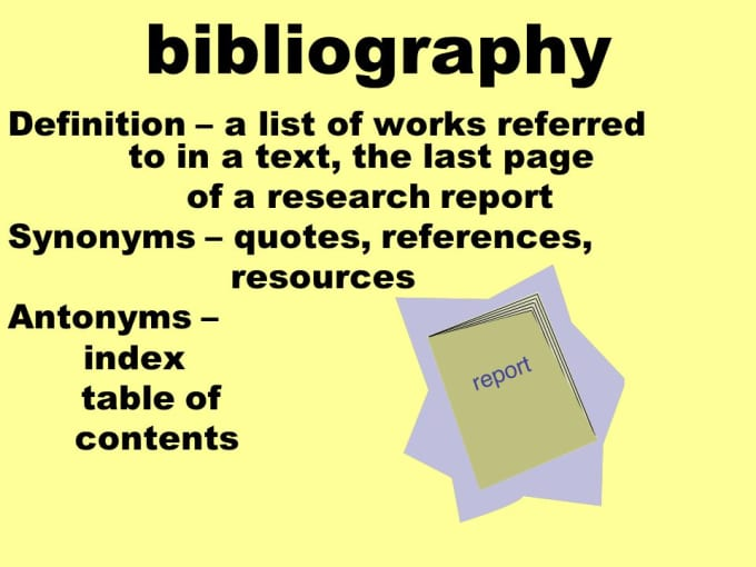 bibliographical research paper