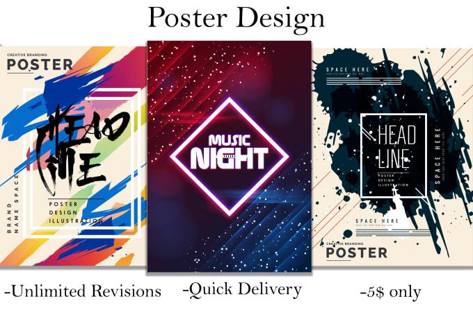 Best 5 Poster Design Services on Fiverr 2021