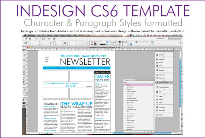 customise a newsletter template in indesign by mishydee. Black Bedroom Furniture Sets. Home Design Ideas