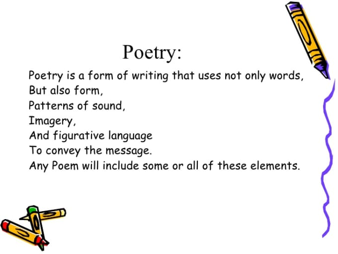 poetry and figurative language paper