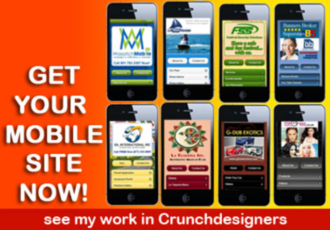 create a mobile website for your company by crunchdesigners. Black Bedroom Furniture Sets. Home Design Ideas