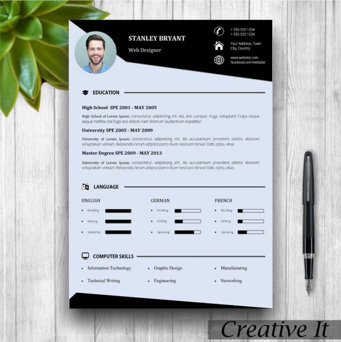 resume templates in windows