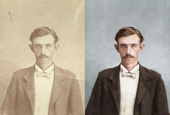 Photoshop restore color old photo tutorial