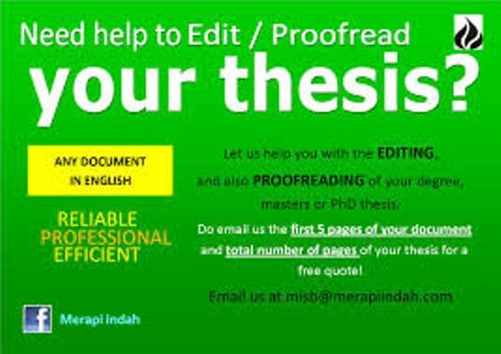 proofread master thesis