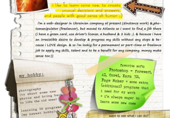 fiverr resume design a creative resume for you fiverr