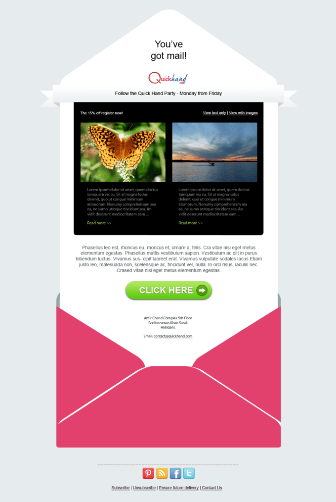 create editable mailchimp email template by tarekahmed28