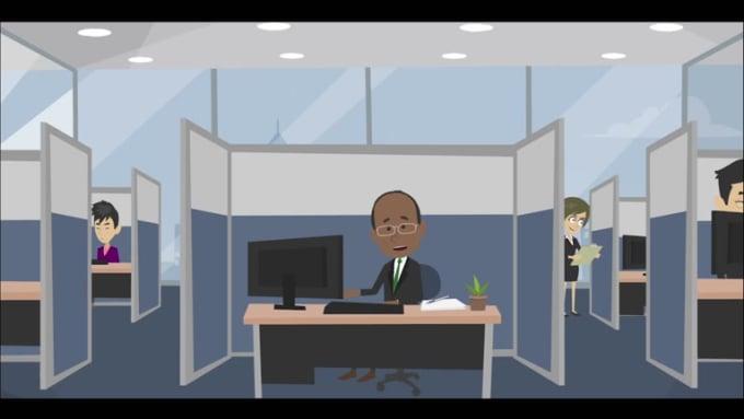 create a custom 2d explainer video