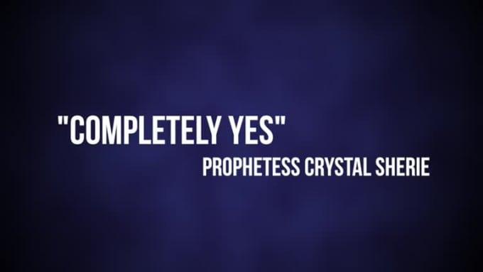 Prophetess Crystal Sherie Karaoke Completely Yes - Fiverr
