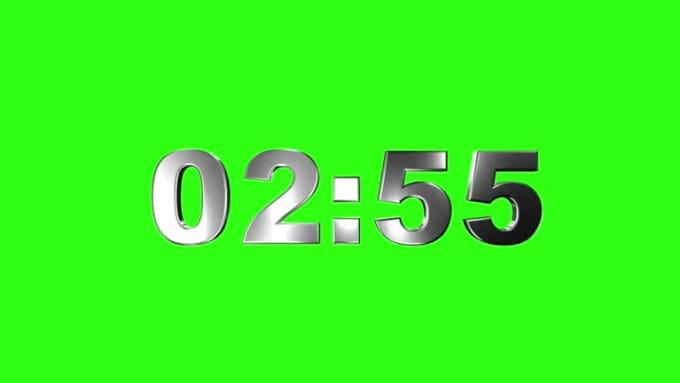 3_Minute_3D_Countdown_Green_Screen_by_STUNNING_3D