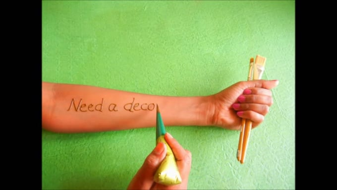 how to write messages in henna