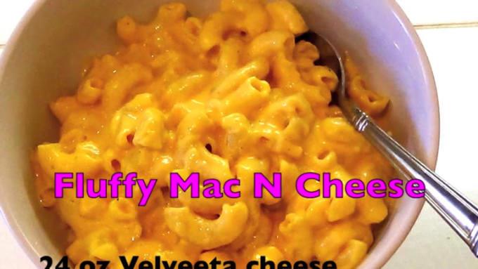 Fluffy mac n cheese