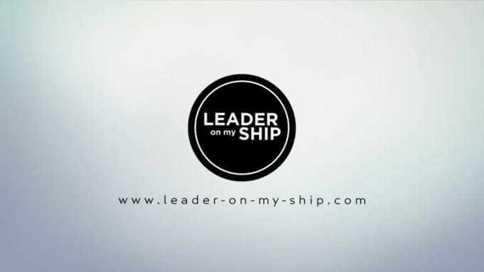 Leader on my ship intro with black logo