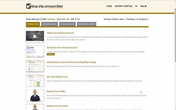 dropship amazon lister video 6