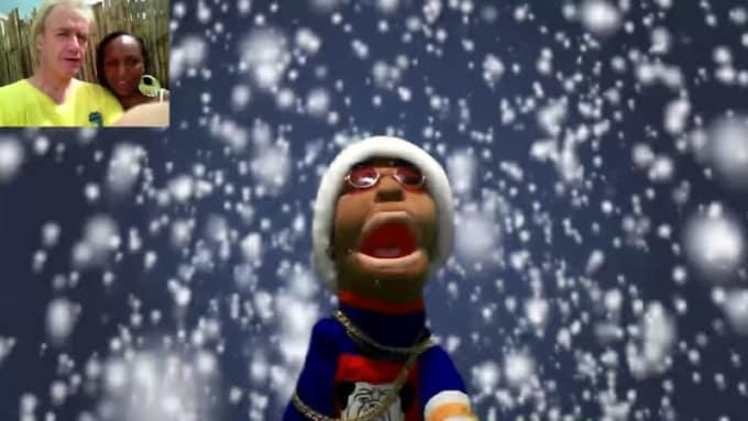 PUPPET christmas  GIG FOR kikalachica C REDO