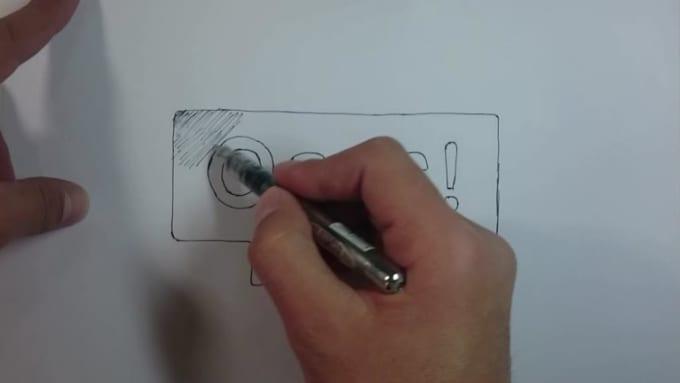 black pen speed drawing