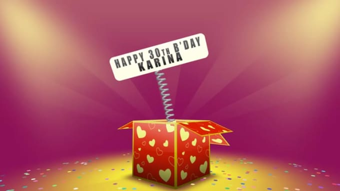 Happy bday karina video