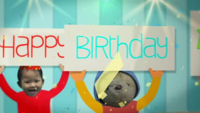 Birthday Wish Greetings Video for Andrew in 720p HD High Quality
