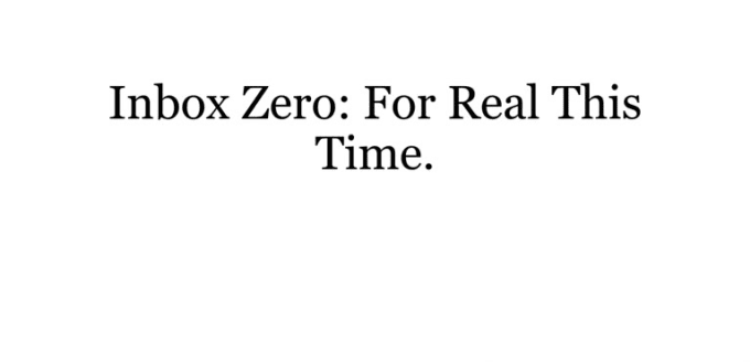 Inbox Zero Video edited