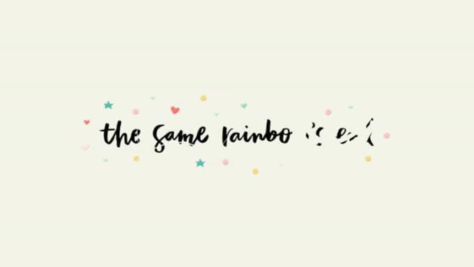 the same rainbow ends