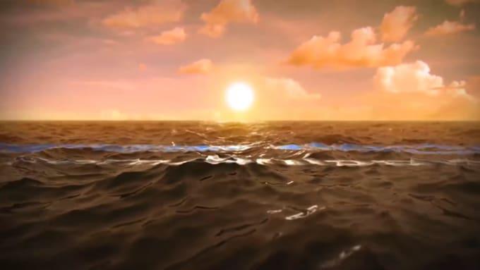 Logo_RAW 16 SEC-Sunset FULL HD Ocean Water Intro Animation AEII