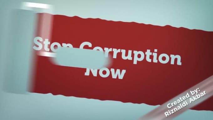 Stop corruption - Riznaldi Akbar