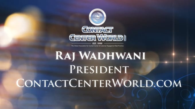 Raj Wadhwani President Contact Center World