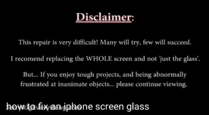 How to fix an iPhone Screen  Glass