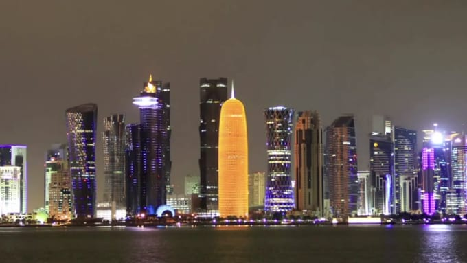 Doha cityscape Zoom HD