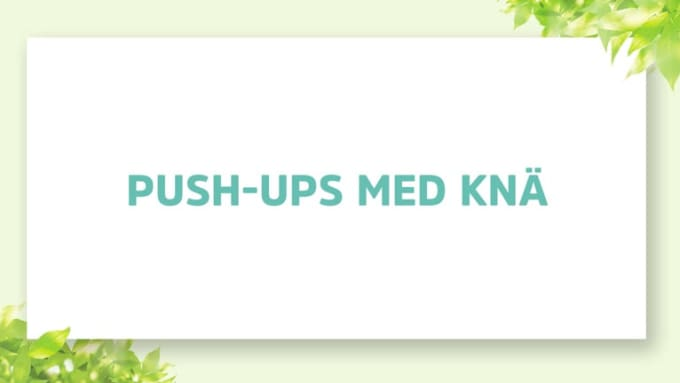 PUSH UPS MED KNÄ_update