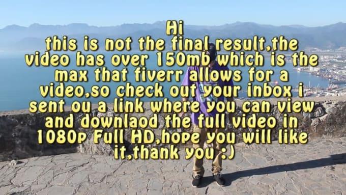 Machete fiverr message