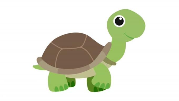 tortoise walking smiling
