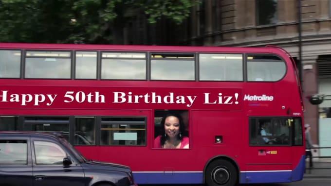 Happy 50th Birthday Liz video