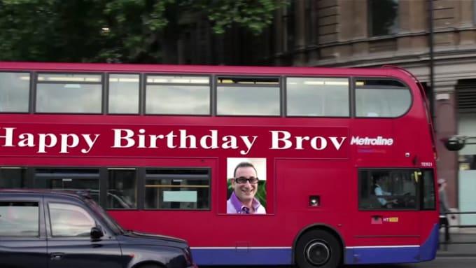 Happy Birthday Brov Bus Ad New