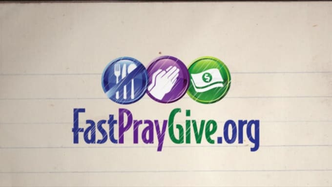Fast Pray Give with voice