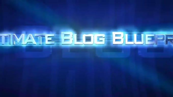 Cinematic Trailer Intro - Ultimate Blog Blueprint - HD