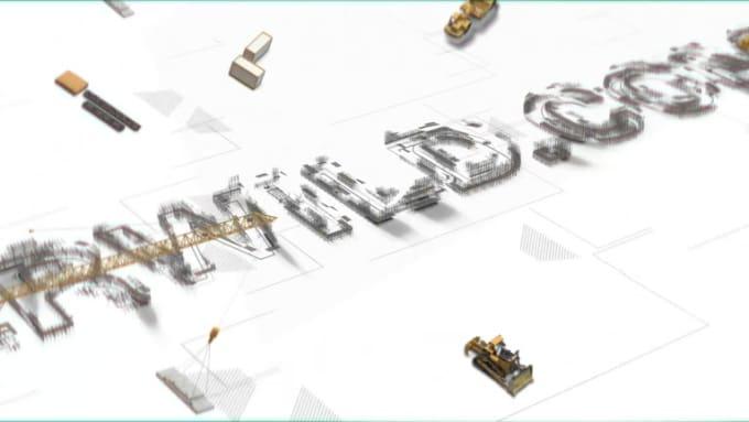 construction logo animation
