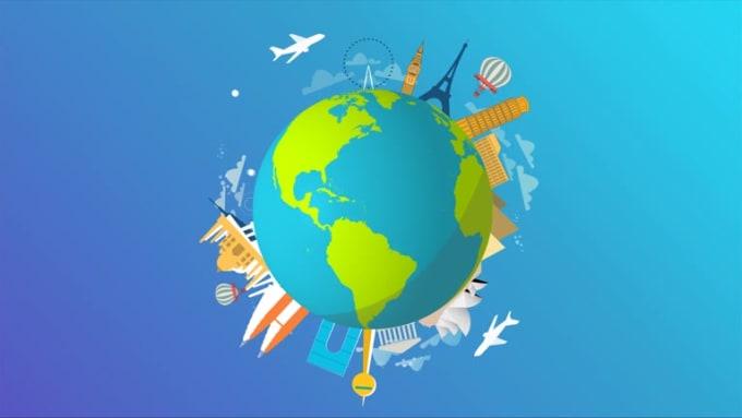 World Travel Logo Animation