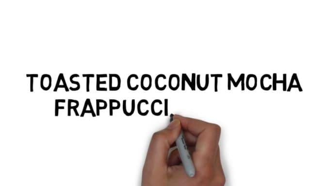 Toasted coconut mocha