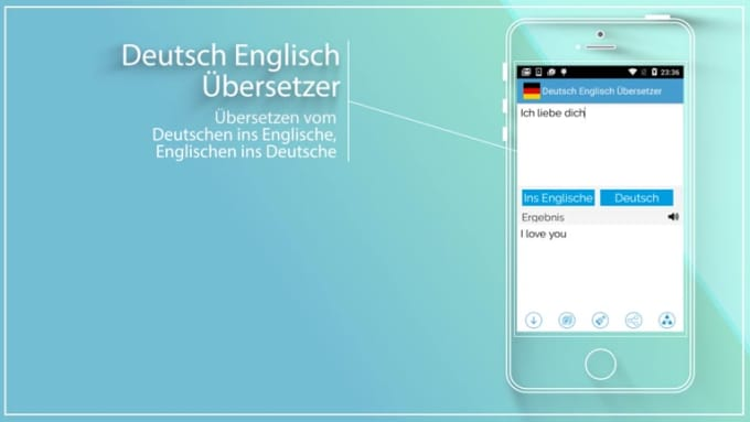 Deutsch Englisch app video 2