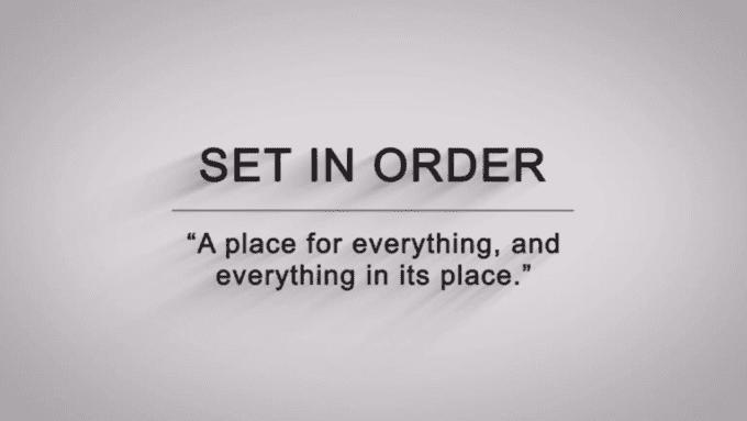 Set in order HD