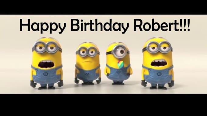 Minions Sing Happy Birthday Robert 1