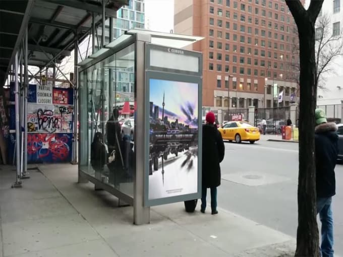 Bus Stop Billboard video