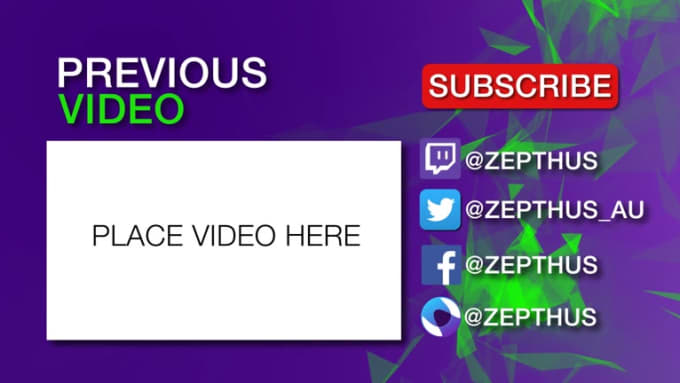 Youtube outro v2
